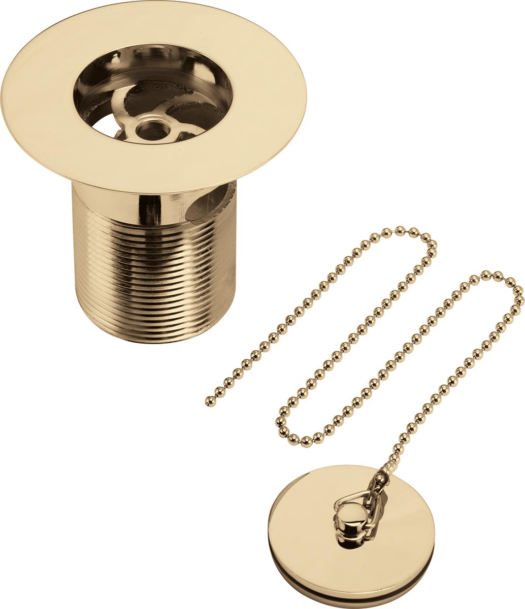 Luxury Sink Waste With Solid Brass Plug Gold Bristan