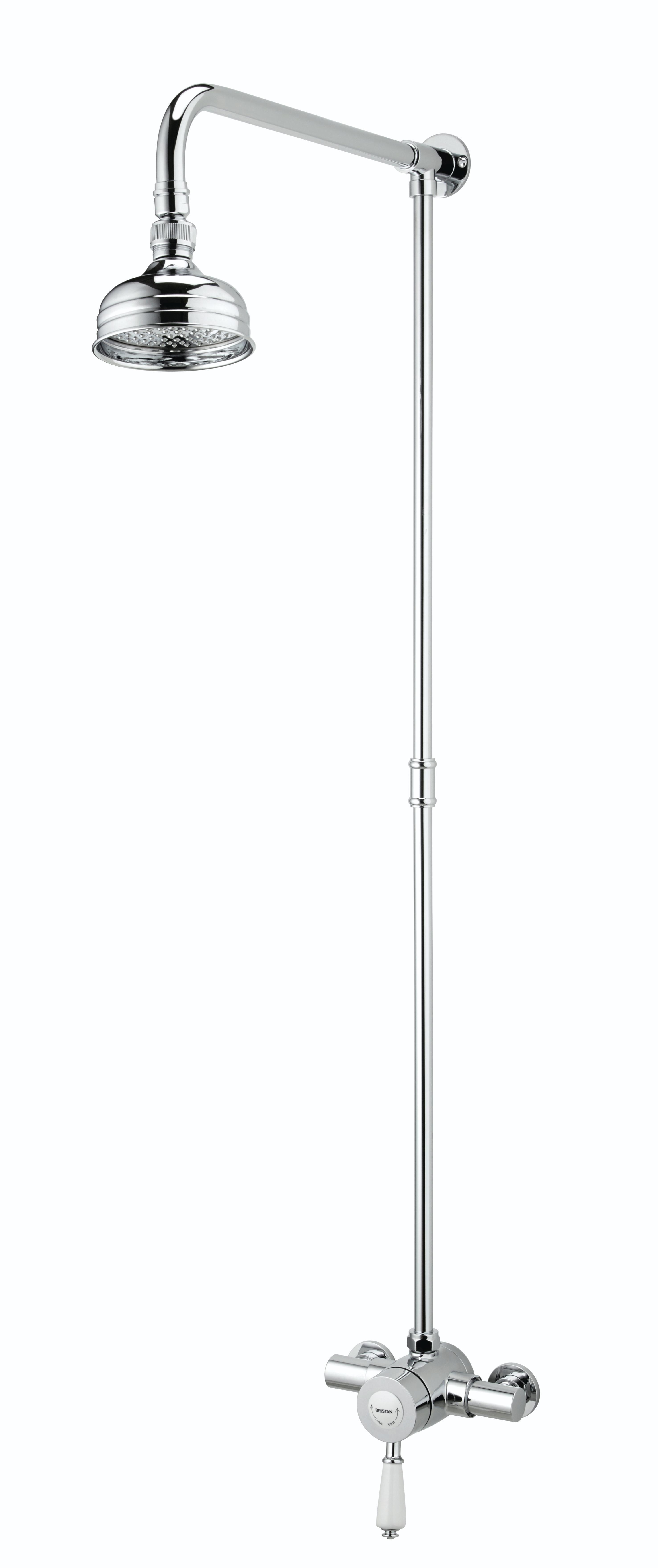 Thermostatic Exposed Mini Valve Shower with Rigid Riser