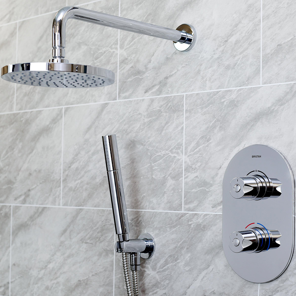 Shower Pack with Fixed Head and Fixed Handset Holder