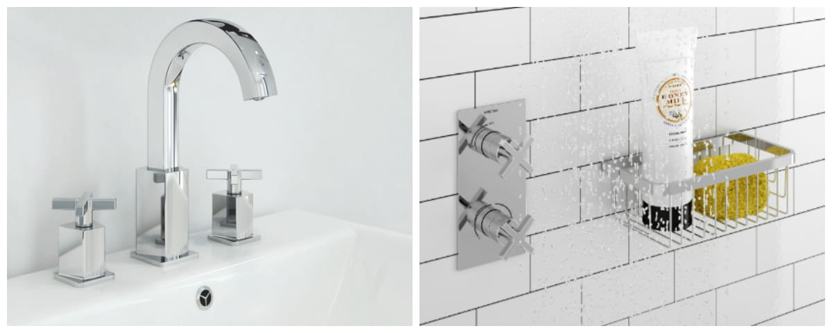 Cascade designer collection taps and showers Bristan