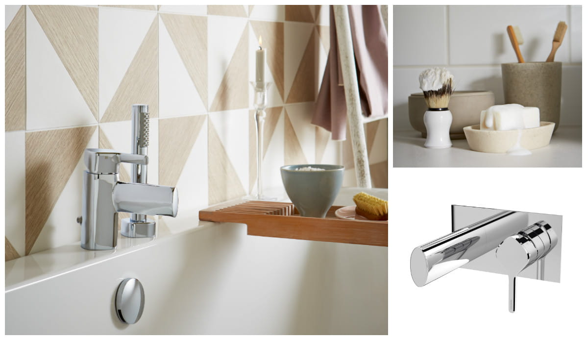 Flute designer collection taps and showers Bristan