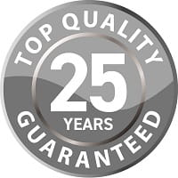 25 year guarantee logo