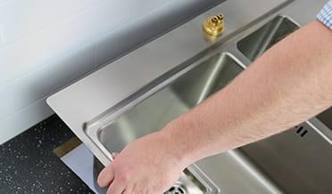 Installation of sink 1