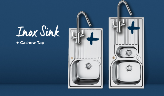 Inox Sink and Cashew tap bundle