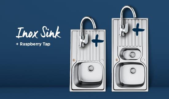 Inox Sink and Raspberry tap bundle