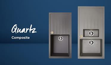 Kitchen sink Quartz Composite (dark background)