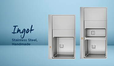 Kitchen sink Ingot Stainless Steel (Light background)